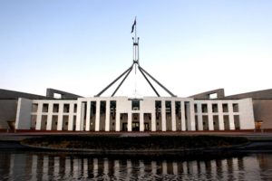 Ms Higgins was allegedly raped inside Parliament House in Canberra.(ABC News: Jenny Magee)